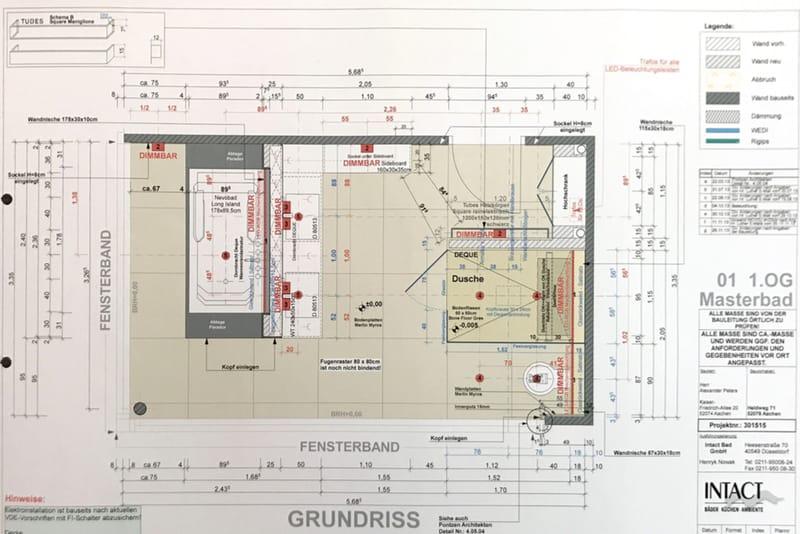 Technische Bauausführungszeichnung